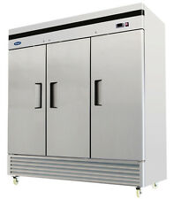 ATOSA MBF8504 THREE 3 DOOR STAINLESS STEEL COMMERCIAL FREEZER UPRIGHT BOTTOM
