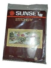 NEW NIP Sunset Stitchery Oriental Tea Garden Embroidery Kit 2485
