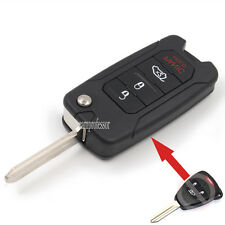 New Uncut Flip Remote Key Fob 3+1 Button 315Mhz for Dodge Chrysler Jeep FCC OHT