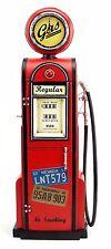 GAS PUMP GASOLINE with CLOCK replica tin plate handmade retro vintage model