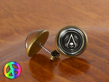 Assassins Creed 1 Game Gamer Gaming Fashion Earrings Studs Jewelry Gift Present