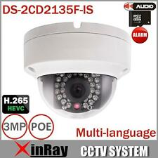 (WI) Hikvision DS-2CD2135F-IS Full HD Waterproof POE Dome CCTV Camera H.265 HEVC