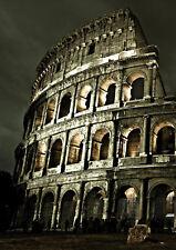 A4 Poster-COLOSSEO la sera (ROMA ITALIA ROMANA FOTO stampa art SPQR)