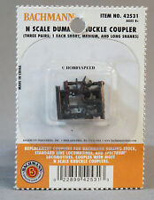 BACHMANN N SCALE DUMMY KNUCKLE COUPLERS 3 PR 3 SIZES connectors train BAC 42531