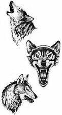 Wolf Protector Temporary Fake Tattoos Waterpoof Luck Fertility Bonding Transfer