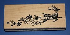 Inkadinkado 'Silhouette Deer Trail' Christmas Wooden Backed Rubber Stamp 98645O