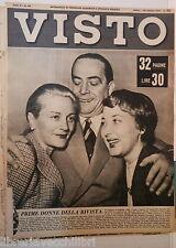 VISTO 24 ottobre 1953 Carlo Dapporto Trieste Ernesto Trevisi Treno ETR 300 Nobel