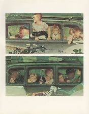 """1977 VINTAGE """"THE OUTING"""" by NORMAN ROCKWELL MINI POSTER COLOR Lithograph"""