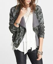 Free People Silver Sequin Party Jacket Sz M $298