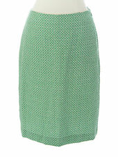 BODEN Women's Green / Natural Printed British Wool Mini Skirt US Size 12 L NEW
