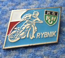 ROW RYBNIK POLAND SPEEDWAY MOTORCYCLE CLUB 1970's BLUE PIN BADGE
