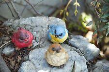 Set of 3 Outdoor Garden Resin Bird Decor Statue