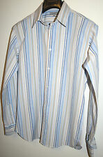 Ted Baker Mens Shirt Fitted Casual Smart Designer Blue Slim Fit Size Large