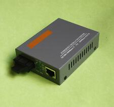 Gigabit Ethernet Media Converter 1000M RJ45 SC Fibre Dual-Fiber Single-Mode 20KM