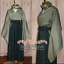 Axis Powers Hetalia APH Japan Kimino Cosplay Outfit Costume Green
