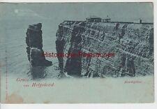 (110005) AK Gruß aus Helgoland, Nordspitze, Mondscheinkarte, bis 1905