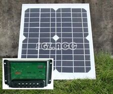 10W 12V solar panel battery charger for motorhome caravan camper boat car UK