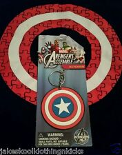 New Marvel Comics The Avengers Captain America Round Keychain Keyring Civil War!
