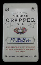 THOMAS CRAPPER Emergency Plumbing Kit Tin Gift Set Vintage fun humour New