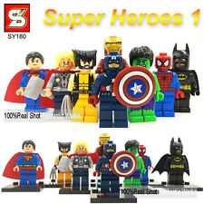 8 PCS MINI-FIGURES FITS LEGO IRONMAN BATMAN MARVEL DC UNIVERSE HULK 2017 MINIFIG