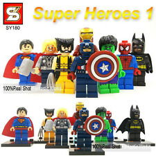 8 pc Marvel Avengers DC Super Heroes Mini Figures Fits Lego. UK SELLER minifigs
