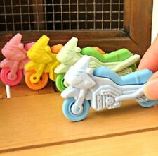 Removable Motorcycle Eraser Rubber Pencil Stationery Child Gift Toy 1pc ☆