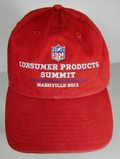 2013 NFL FOOTBALL CONSUMER PRODUCTS SUMMIT NASHVILLE ADVERTISING RED HAT CAP