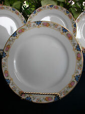 NORITAKE NIPPON- c.1912- LUNCHEON PLATE(s)- FLORAL BAND- GREAT!! GILT!!