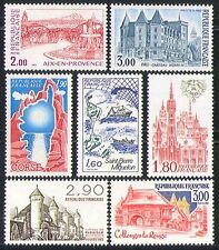 France 1982 Tourism/Buildings/Boats/Fountain 7v n31884
