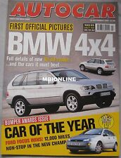 Autocar 18/11/1998 featuring Ford, Mazda, Range Rover, Jeep, Rover 200 BRM