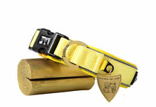 S yellow Dog Collar Padded Quick Release Buckle Reflective Neoprene and Nylon