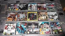 LOT PS3 17 JEUX DIVERS DONT UNCHARTED 2/3,GTA 5,TWD, FIFA,PES, ACIV, DMC ETC. FR