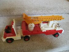 Fisher Price Adventure people 319 Fire Truck Firetruck Husky helpers ladder toy