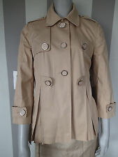 TORY BURCH spring TRENCH COAT,SZ 8,tan,1b