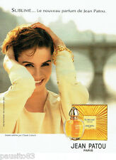PUBLICITE ADVERTISING  016  1993  JEAN PATOU  parfum SUBLIME par CLAUDE LELOUCH
