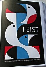Feist Mini Concert Poster Reprint for Live Performance in Portland Oregon 14x10