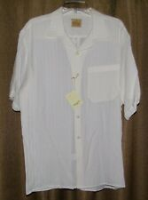 Stubbs Western Wear Cream Colored Bowling Style Shirt NWT Size L