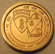 Berlin Brigade Excellence Military Skills Gold Plated Army Challenge Coin