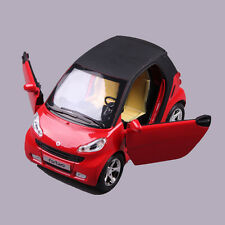 Red Benz Smart ForTwo Alloy Diecast Car Model Toy Vehicles Kids Boys Gift  1:32