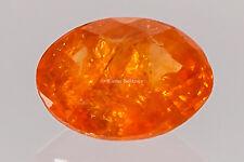 No1 / satt ORANGE Mandarin GRANAT facettiert oval 6,5x5 mm ca. 0,85 ct