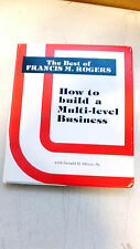 """""""How To Build a Multi-Level Business"""",8 cassette tapes, F.Rogers & G. Oliver Sr."""