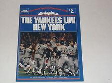1979 NEW YORK YANKEES BASEBALL YEARBOOK THE YANKEES LUV NEW YORK MUNSON JACKSON