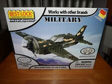 BEST-LOCK, MILITARY FIGHTER PLANE KIT, OVER 100 PIECES, NIB, 2013