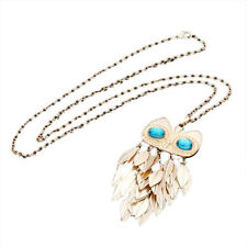 Gold Long Necklace Chain Owl Pendant Fashion Vintage Jewelry Mix and Match New