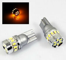 2PC 194/158/T10/W5W Amber 18 3014-SMD LED License/Parking/Side Marker/Map Light