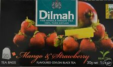 Dilmah thé-Mango & strawberry flavoured Black Ceylon tea 20 sachet de thé