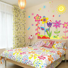 DIY Wall Sticker Flower Butterfly Removable Vinyl Art Mural Home Kids Room Decor