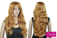 Celebrity Honey Blonde Strawberry Long Curly Wig Hair
