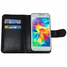 Mobile Phone Book Cover Card Wallet Case For Jiayu S3 Basic - 360 Black L