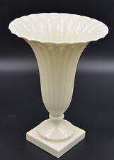 """LENOX USA, Gold Backstamp, Ivory Regal Fluted Trumpet  Vase, 8 3/4"""""""